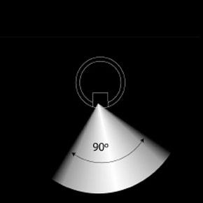 HLS asymmetrisk 90 grader