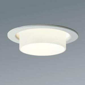 Belysning med Punktlampan. En infälld downlight med bländskydd i glas eller lackerad metall. Finns för LED.