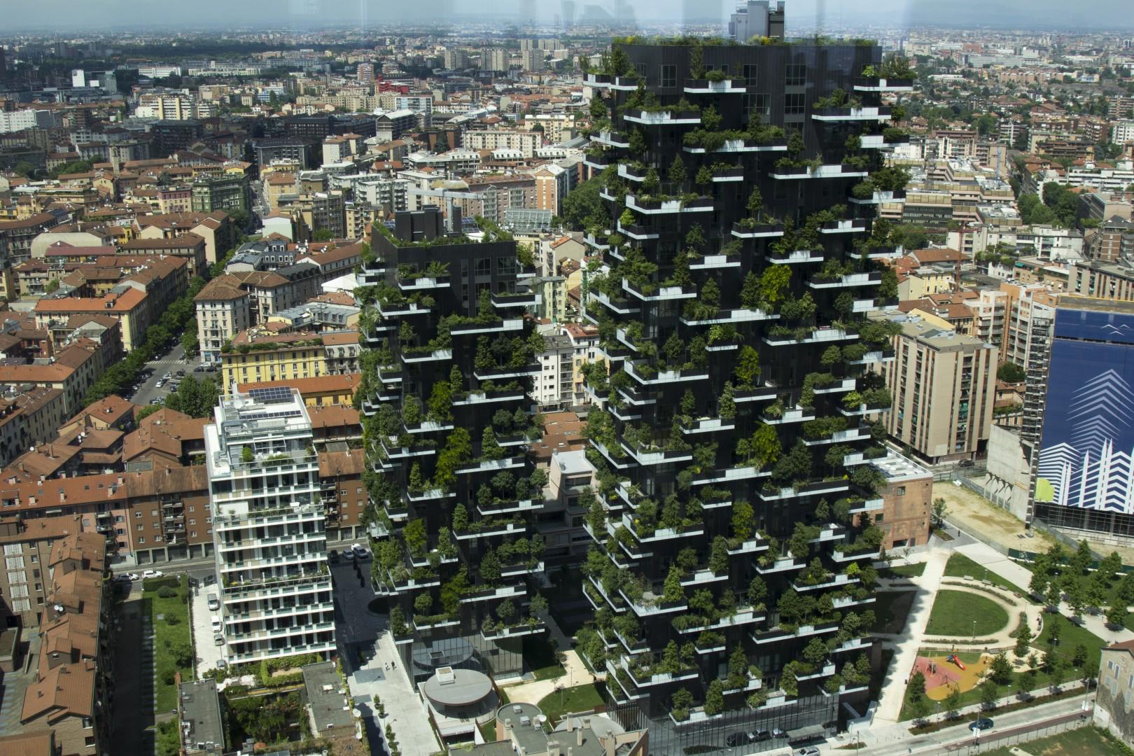 Foto Bosco Verticale Milano belysning till bosco verticale – världens vackraste byggnad